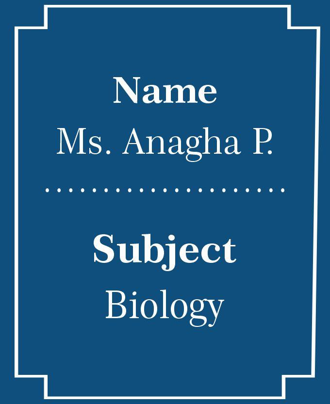 Ms. Anagha P