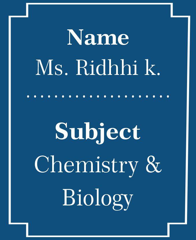 Dr. Riddhi K