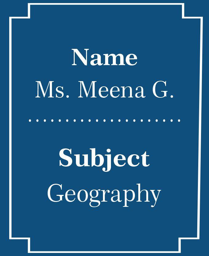 Ms. Meena G